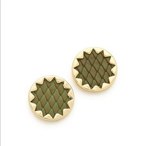 House of Harlow 1960 Olive Green Sunburst Earrings